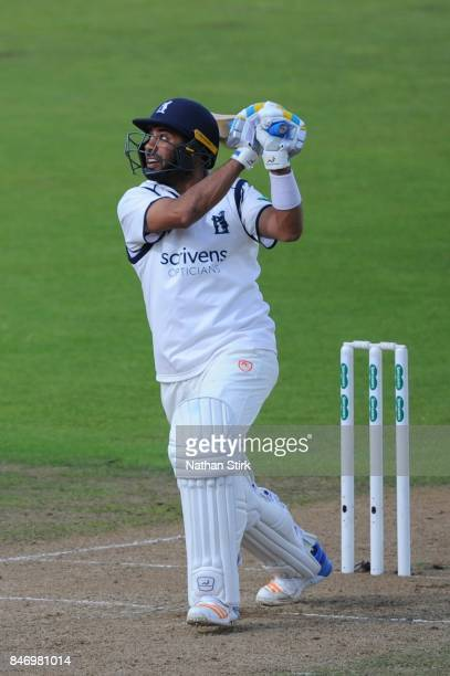 Jeetan Patel of Warwickshire batting during the County Championship Division One match between Warwickshire and Essex at Edgbaston on September 14...
