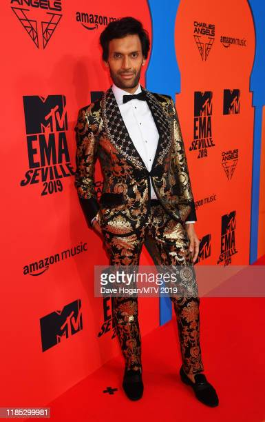 Jeetendr Sehdev attends the MTV EMAs 2019 at FIBES Conference and Exhibition Centre on November 03 2019 in Seville Spain
