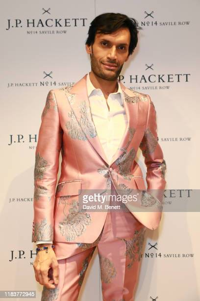 Jeetendr Sehdev attends the opening celebrations for the JP Hackett store at No14 Savile Row on November 20 2019 in London England