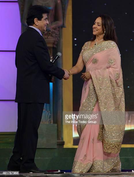 Jeetendra and Hema Malini in Life ok screen awards 2015