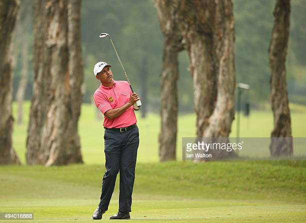 Jeev Milkha Singh of India in action during third round of the UBS Hong Kong Open at The Hong Kong Golf Club on October 24 2015 in Hong Kong Hong Kong