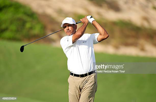 Jeev Milkha Singh of India plays a shot during the ProAm ahead of the Ho Tram Open at The Bluffs Ho Tram Strip on December 2 2015 in Ho Chi Minh City...