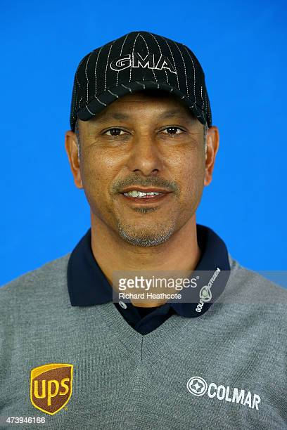 Jeev Milkha Singh of India poses for a portrait during a practice day for the BMW PGA Championships at Wentworth on May 19 2015 in Virginia Water...