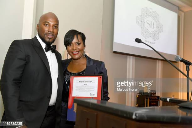 Jeezy and Mayor of Atlanta Keisha Lance Bottoms attend his Inaugural SnoBall for his NonProfit Street Dreamz Foundation at Waldorf Astoria Atlanta...