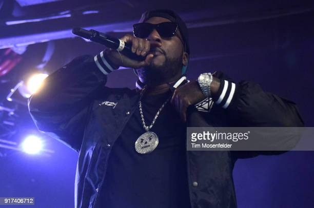 Jeezy performs during the 'Cold Summer Tour' at Ace of Spades on February 11 2018 in Sacramento California
