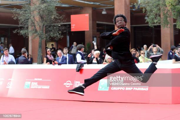Jeferson De walks the red carpet ahead of the Correndo Atras screening during the 13th Rome Film Fest at Auditorium Parco Della Musica on October 21...