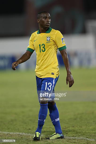 Jeferson of Brazil during the Group A FIFA U17 World Cup match between Honduras and Brazil at Ras Al Khaimah Stadium on October 23 2013 in Ras al...