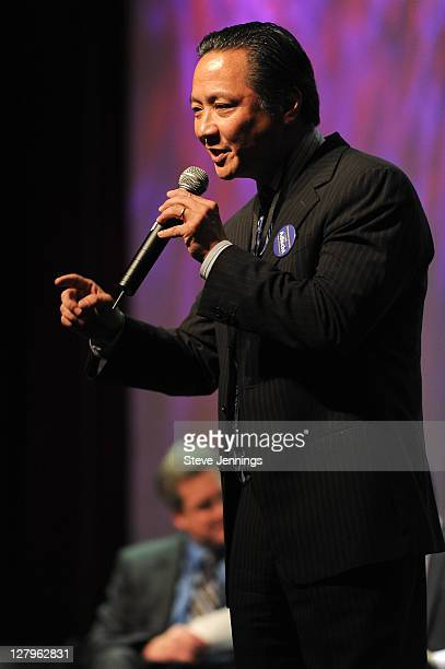 Jeff Adachi speaks at the San Francisco Mayoral Candiates Forum at The Fillmore on October 3 2011 in San Francisco California