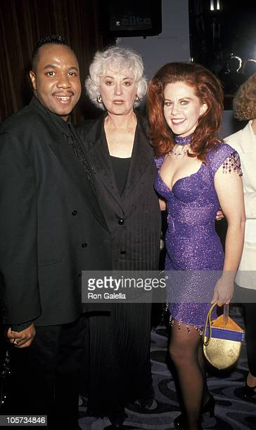 Jeff Alexander Bea Arthur and Kate Pierson during 3rd Annual Famous Fur Foes Turncoat Awards April 29 1993 at Club USA in New York City New York...