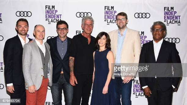 Jeff Allen Zach Zamboni Tom Vitale Anthony Bourdain Sandy Zweig Hunter Gross and Elvis Mitchell attend the Film Independent at LACMA screening of...