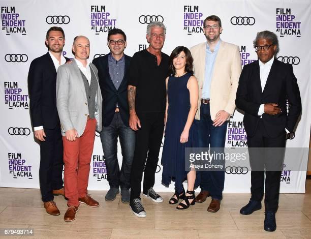 Jeff Allen Zach Zamboni Tom Vitale Anthony Bourdain Sandy Zweig Hunter Gross and Elvis Mitchell attend the Film Independent at LACMA screening of...
