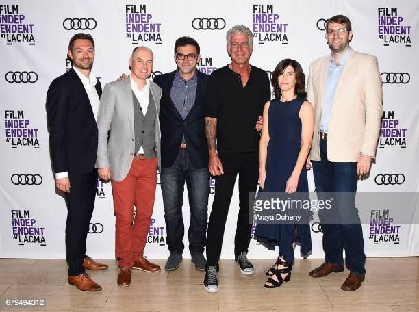 Jeff Allen Zach Zamboni Tom Vitale Anthony Bourdain Sandy Zweig and Hunter Gross attends the Film Independent at LACMA screening of 'Anthony Bourdain...