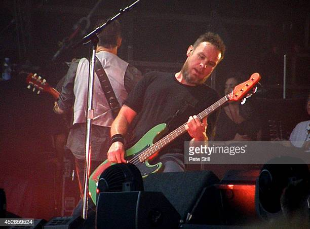 Jeff Ament of Pearl Jam performs on stage at Milton Keynes Bowl on July 11 2014 in Milton Keynes United Kingdom