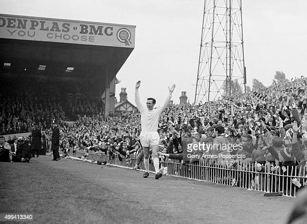 Jeff Astle celebrates after scoring the first goal during their FA Cup SemiFinal against Birmingham City at Villa Park in Birmingham 27th April 1968...