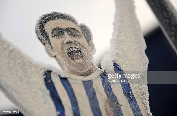 Jeff Astle gates at The Hawthorns the home stadium of West Bromwich Albion in the Winter Snow The First ever Premier League Black Country Derby...