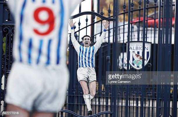 Jeff Astle gates before the Premier League match between West Bromwich Albion and Everton at The Hawthorns on August 20 2016 in West Bromwich England