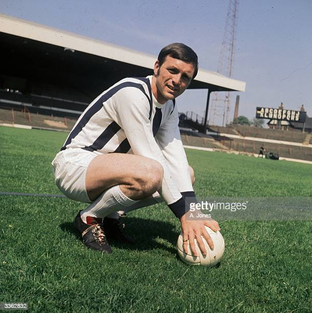 Jeff Astle of West Bromwich Albion Football Club