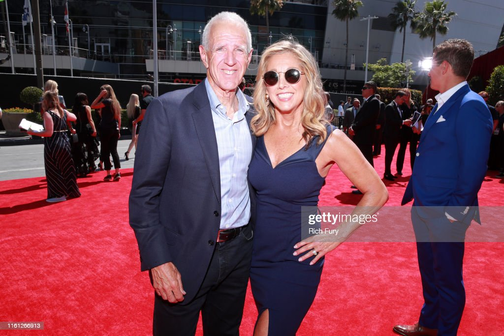 Denise Austin with calm, Husband Jeff Austin