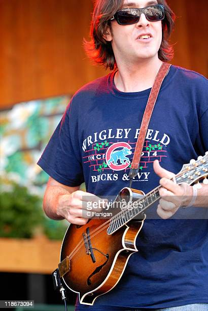 Jeff Austin of Yonder Mountain String Band during The 34th Annual Telluride Bluegrass Festival Day 2 Yonder Mountain String Band at Town Park in...