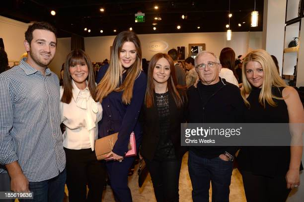 Jeff Azoff Shelli Azoff reality television personality Khloe Kardashian Jaye Azoff Irving Azoff and Allison Azoff Statter attend the Scoop NYC event...