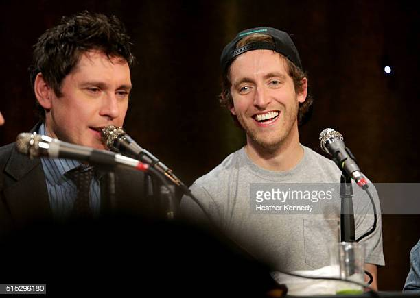 Jeff B. Davis and Thomas Middleditch speak onstage at HarmonQuest during the 2016 SXSW Music, Film + Interactive Festival at Esther's Follies on...