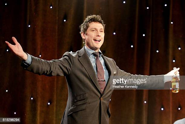 Jeff B. Davis speaks onstage at HarmonQuest during the 2016 SXSW Music, Film + Interactive Festival at Esther's Follies on March 12, 2016 in Austin,...