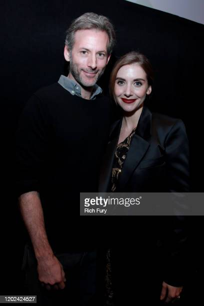 Jeff Baena and Alison Brie attend the 2020 Sundance Film Festival Horse Girl Premiere at The Ray on January 27 2020 in Park City Utah
