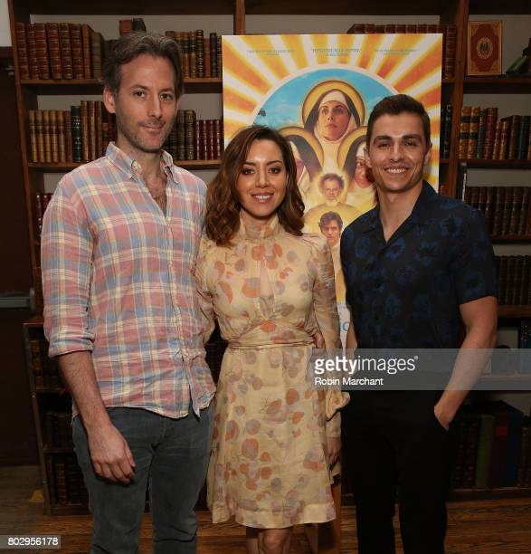 Jeff Baena Aubrey Plaza and Dave Franco attends 'Little Hours' In Store Reading at Strand Bookstore on June 28 2017 in New York City