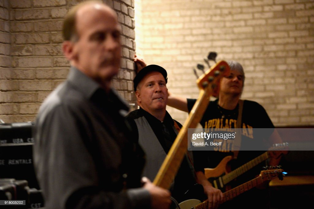 Jeff Bailey, David Middleton & Paul Tiers of Waxing Poetics wait to perform during the Veer Music Awards at Waterside District on February 13, 2018 in Norfolk, Virginia.