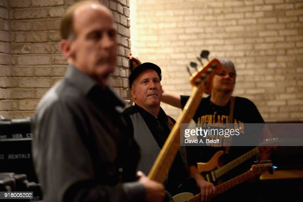 Jeff Bailey David Middleton Paul Tiers of Waxing Poetics wait to perform during the Veer Music Awards at Waterside District on February 13 2018 in...