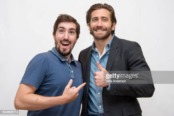 Jeff Bauman and Jake Gyllenhaal at the 'Stronger' Press Conference at the Fairmont Royal York Hotel on September 10 2017 in Toronto Canada