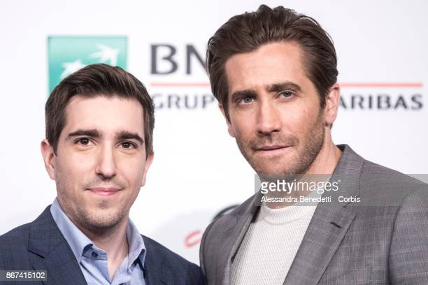 Jeff Bauman and Jake Gyllenhaal attend 'Stronger' photocall during the 12th Rome Film Fest at Auditorium Parco Della Musica on October 28 2017 in...