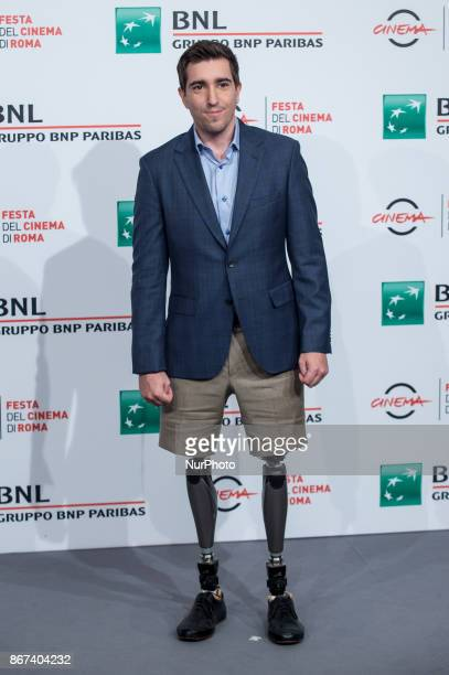 Jeff Bauman attends photocall for 'Stronger' during the 12th Rome Cine Fest at Auditorium Parco Della Musica in Rome Italy on 28 October 2017
