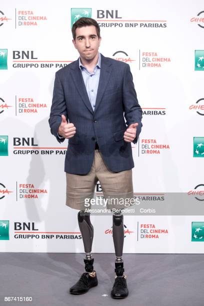 Jeff Bauman attends 'Stronger' photocall during the 12th Rome Film Fest at Auditorium Parco Della Musica on October 28 2017 in Rome Italy