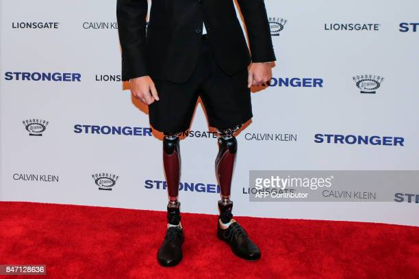 Jeff Bauman coauthor of the book 'Stronger' attends the 'Stronger' New York Premiere at Walter Reade Theater on September 14 2017 in New York City /...