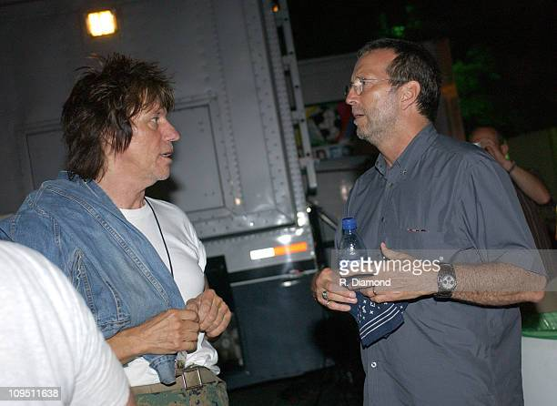 Jeff Beck and Eric Clapton during Crossroads Guitar Festival - Day Two - All Star Blues Jam Hosted by Eric Clapton at Fair Park in Dallas, Texas,...