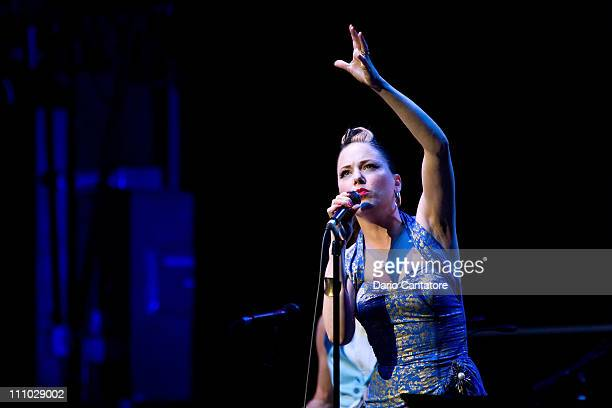 Jeff Beck and Imelda May perform at The Beacon Theatre on March 28 2011 in New York City