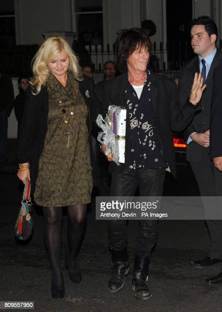 Jeff Beck and Sandra Cash arrive at the north London home of Sir Paul McCartney following his marriage to Nancy Shevell earlier today at Westminster...