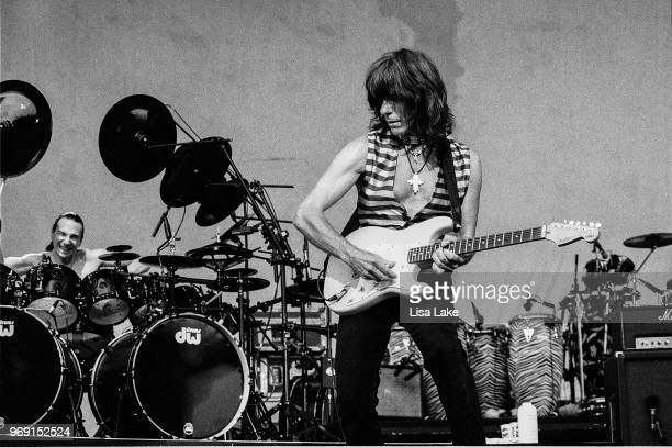 Jeff Beck and Terry Bozio perform on August 05 1995 in Allentown Pennsylvania