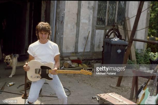 Jeff Beck at home, UK, 1984.