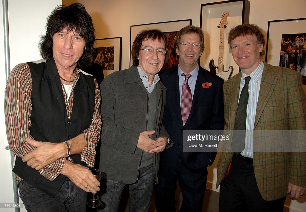 Jeff Beck, Bill Wyman, Sir Eric Clapton and Steve Winwood attend a private view of photographs dedicated to Sir Eric Clapton to celebrate his latest book 'Eric Clapton: The Autobiography', at the Getty Images Gallery on November 1, 2007 in London, England.