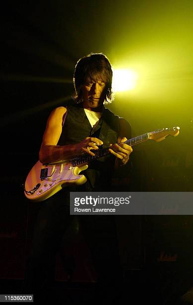 Jeff Beck during Jeff Beck Live in Concert June 27 2004 at Warwick Arts Cente in Coventry England Great Britain