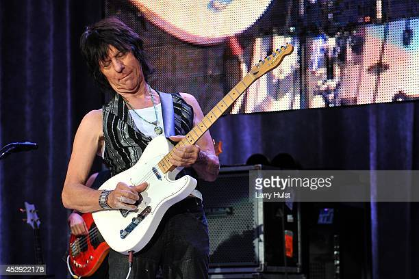 Jeff Beck performing at 'Fiddlers Green' in Englewood, Colorado on August 20, 2014.