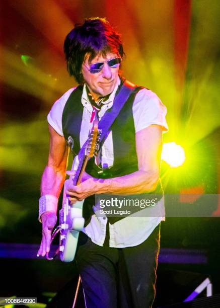 Jeff Beck performs at DTE Energy Music Theater on July 31, 2018 in Clarkston, Michigan.