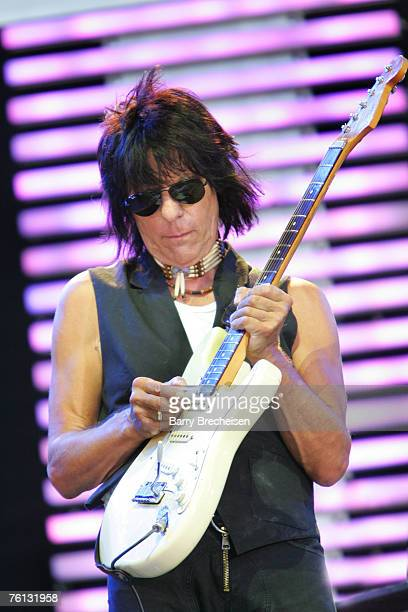 Jeff Beck performs at Eric Clapton's Crossroads Guitar Festival 2007 held at Toyota Park on July 28 2007 in Bridgeview Illinois
