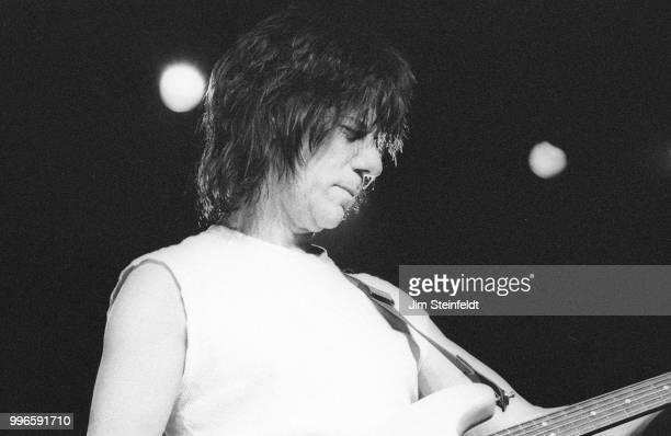 Jeff Beck performs at the Universal Amphitheatre in Los Angeles California on April 17 1999