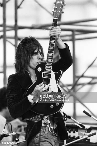 Jeff Beck performs at 'World Rock Festival' at Korakuen Stadium, August 7th, 1975.