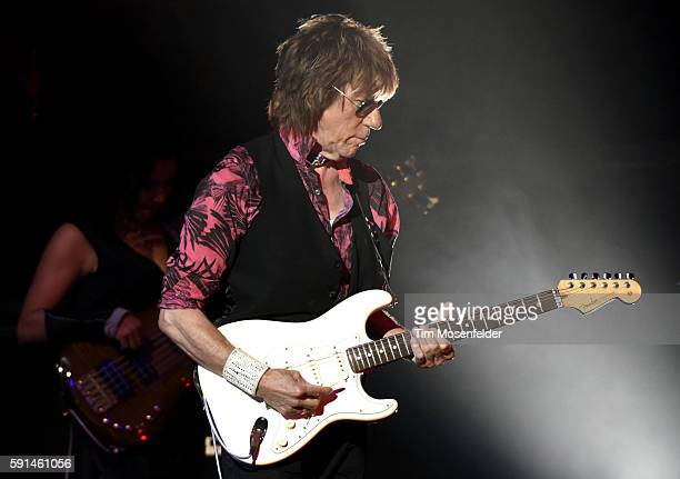 """Jeff Beck performs in support of his """"Loud Hailer"""" release at The Masonic Auditorium on August 16, 2016 in San Francisco, California."""