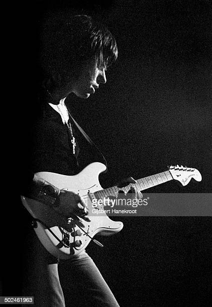 Jeff Beck performs live with Beck, Bogert & Appice in Amsterdam, Holland in September 1972.