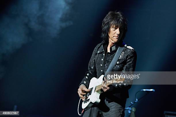 Jeff Beck performs on stage at Royal Albert Hall on May 14 2014 in London United Kingdom